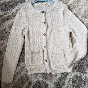 Zara girls rose gold slub knit cardigan